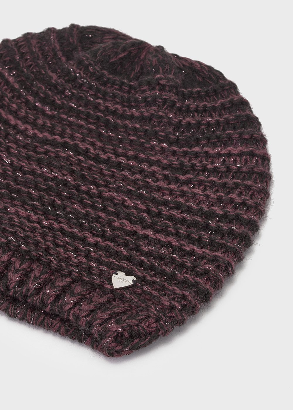 Hat with wool and lurex threads
