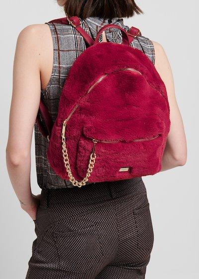 Faux-fur backpack