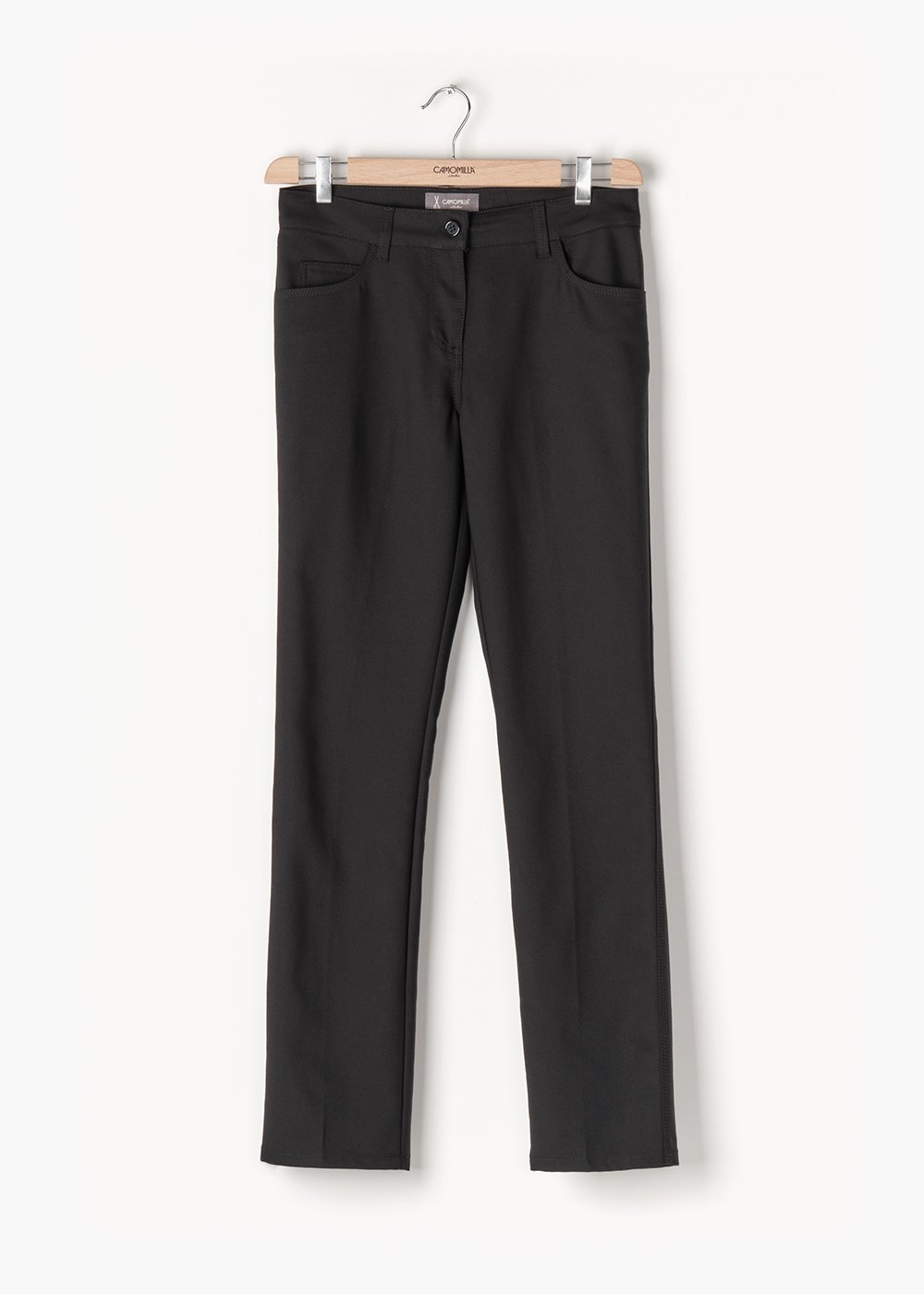Trousers in 5-pocket Carrie in technical fabric - Black - Woman