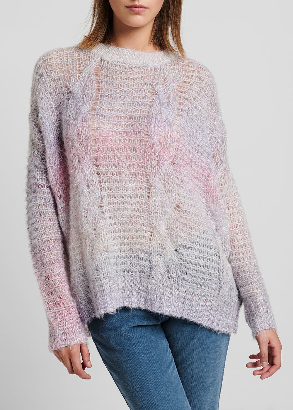 Fake mohair sweater with shaded effect