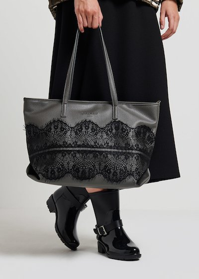 Blow shopping bag with lace