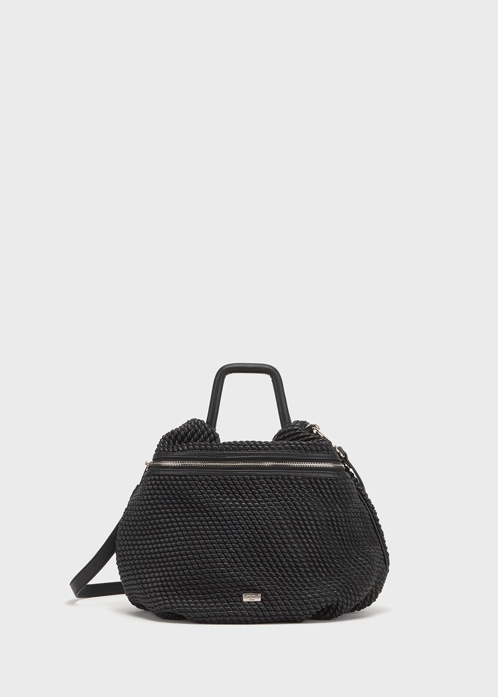 Embossed faux-leather Blody bag - Black - Woman