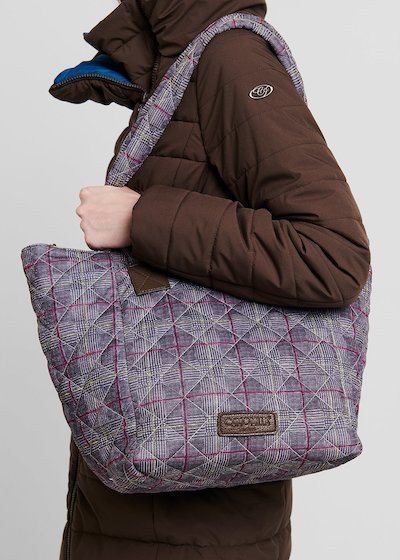 Beggyn shopping bag with grey pattern