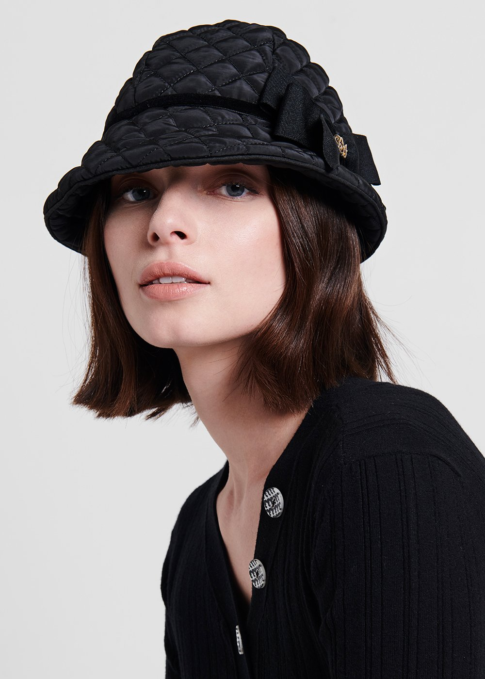 Cappello Cady in nylon - Black - Donna