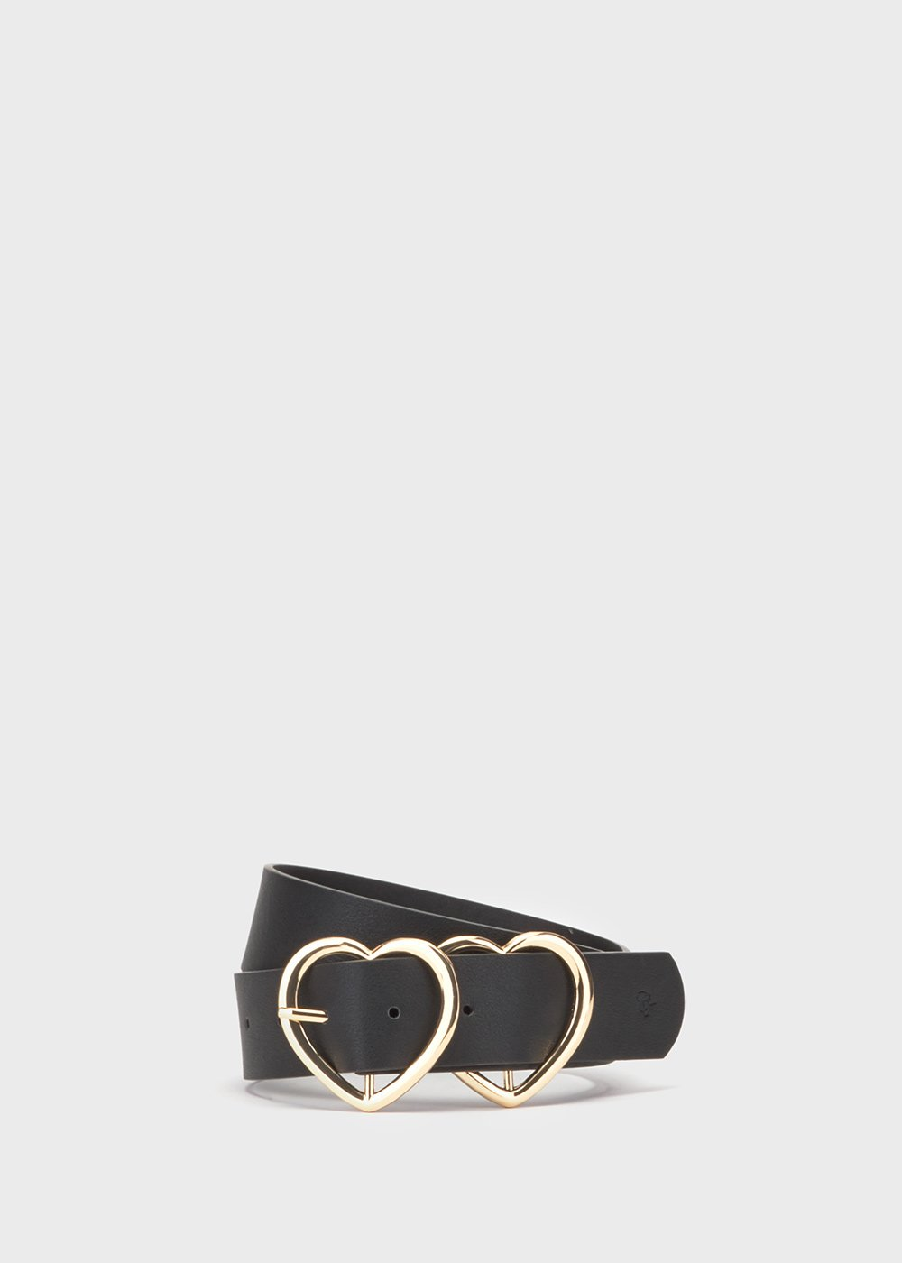 Cories belt with heart-shaped buckle - Black - Woman