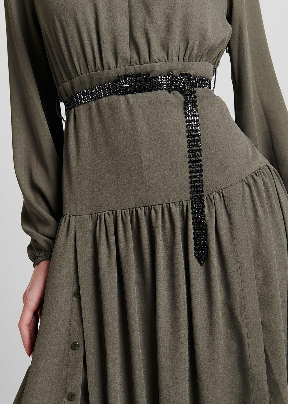 Cintura Cairan in maglia di strass - Black - Donna