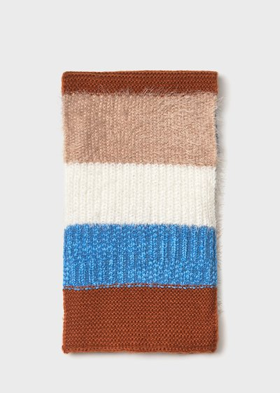 Sofy scarf with coloured stripes
