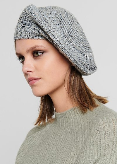 Cayd beret with micro-sequins