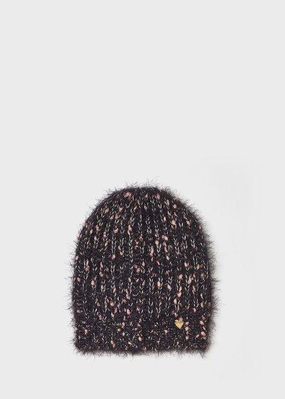 Cappello Colan effetto pelo con fili di lurex
