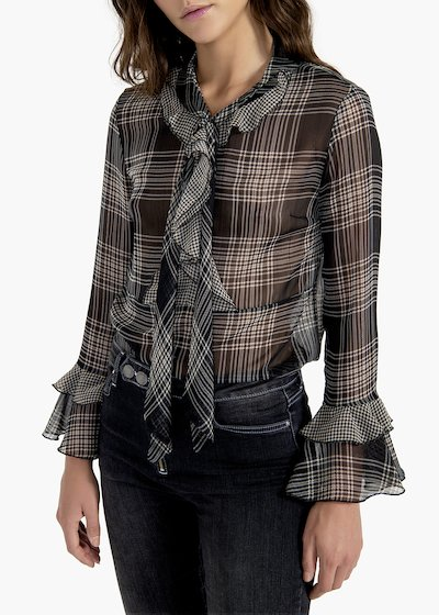 Shirt Samantha in check pattern georgette