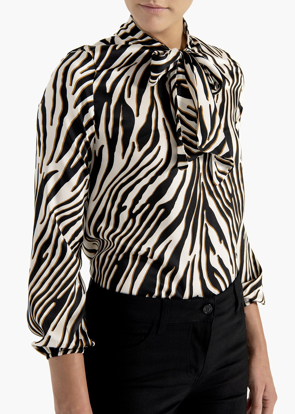 Zebra print t-shirt Suami in fluid fabric