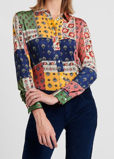 Alessia shirt with patchwork pattern