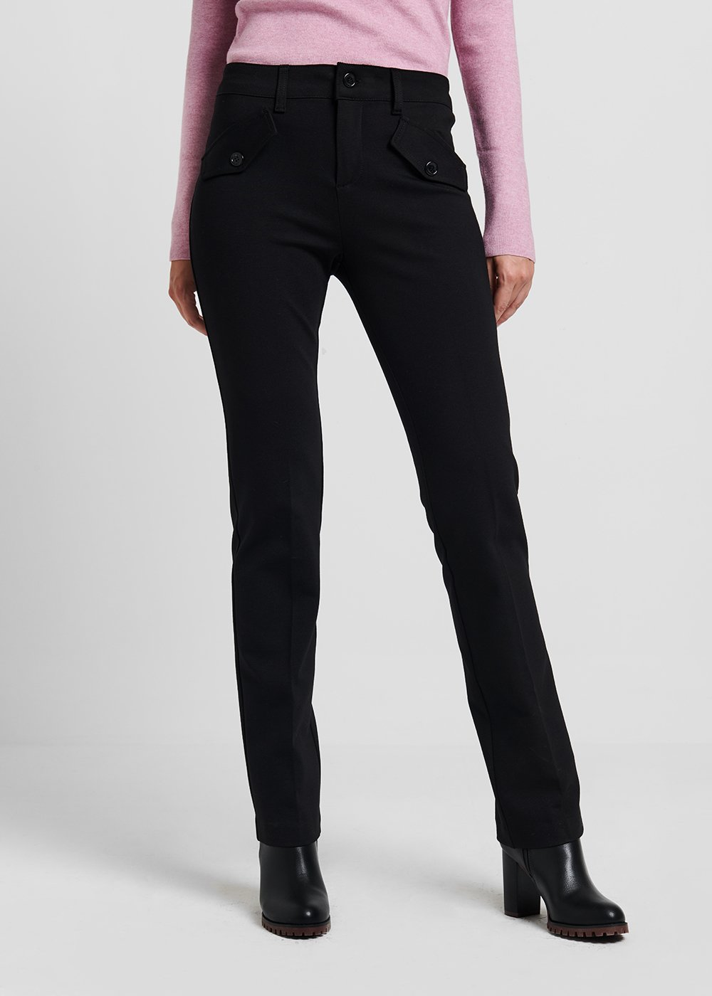Carrie trekking trousers in milano stitch - Black - Woman