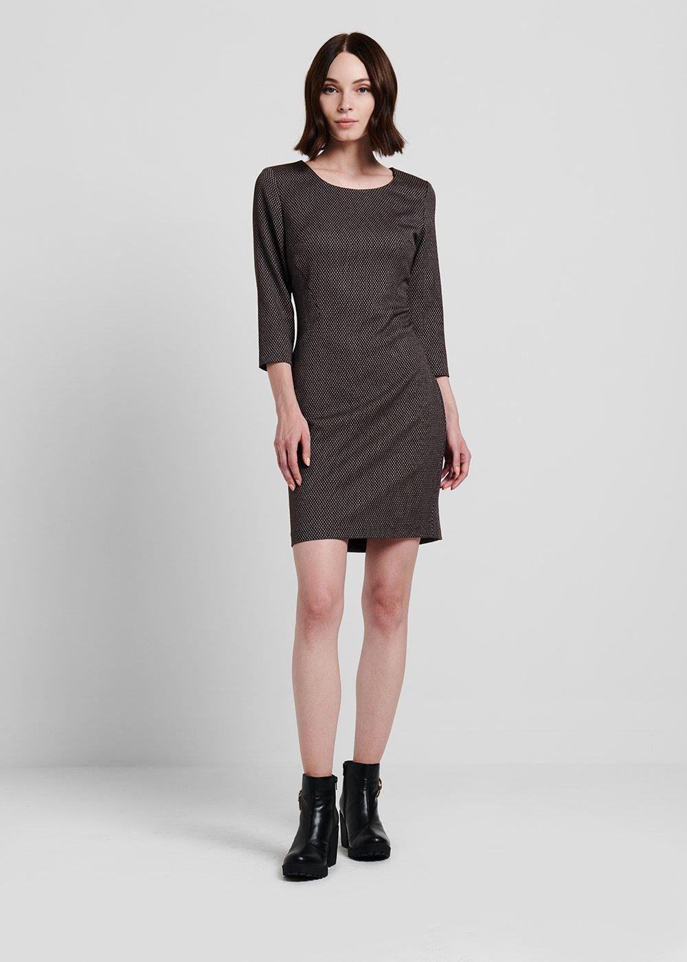 Sheath dress with micro pattern