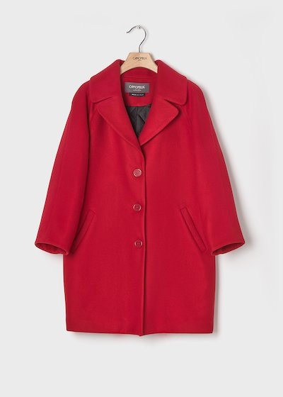 Passion red-coloured coat with padded lining