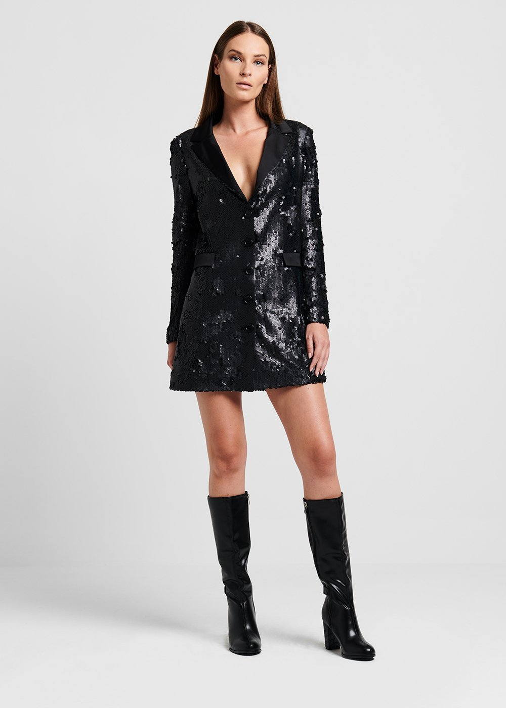 Long sequined jacket