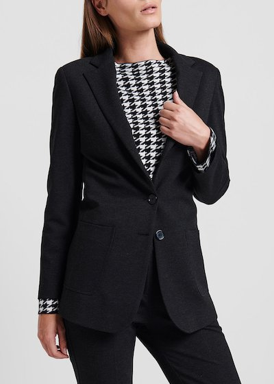 Dark grey jacket in milano stitch