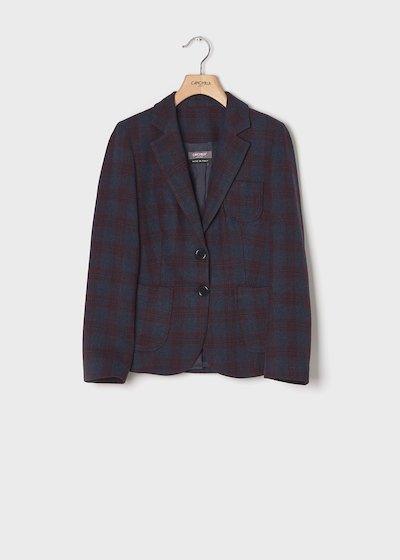 Checked men's jacket