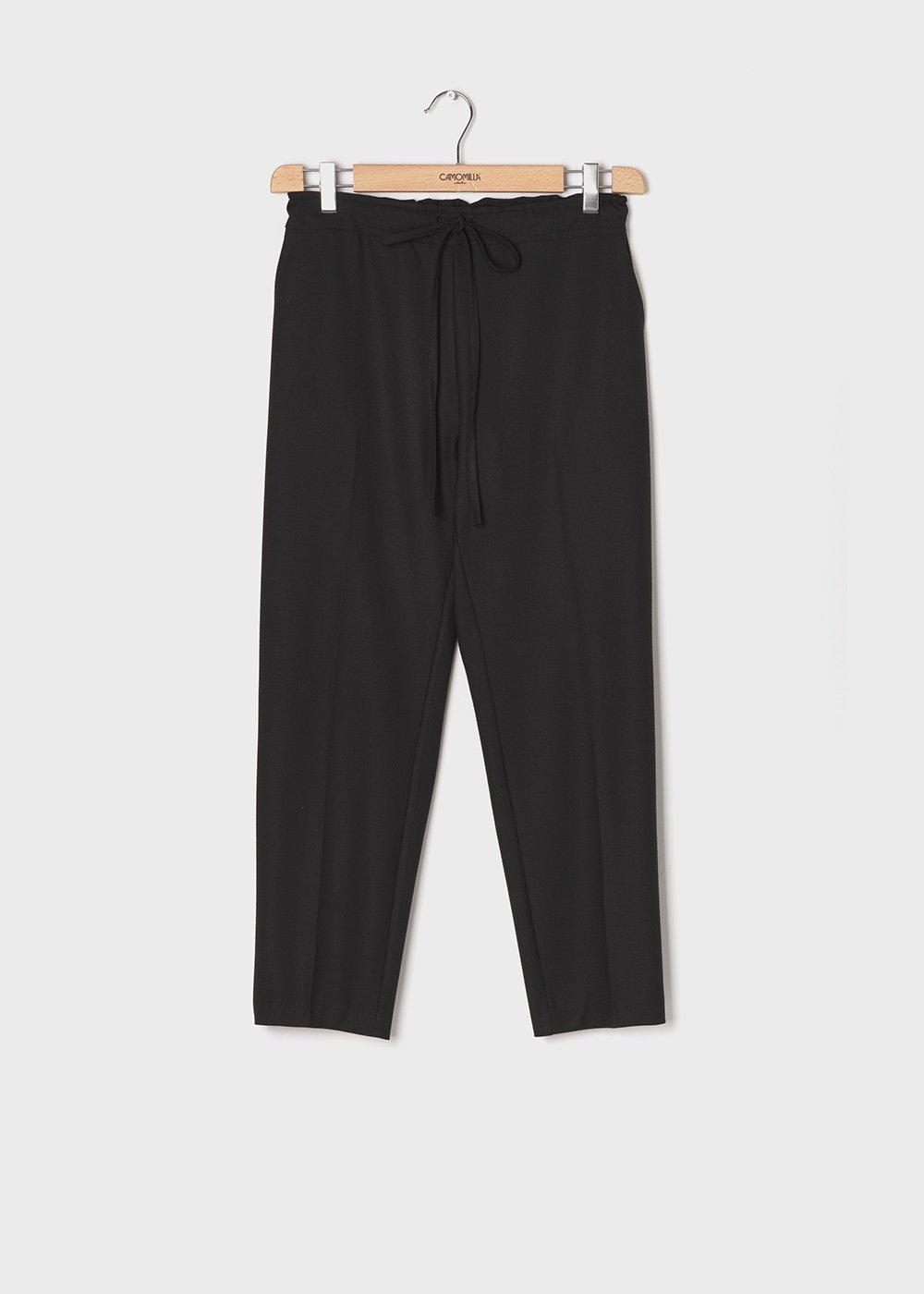 Clara flannel trousers - Black - Woman