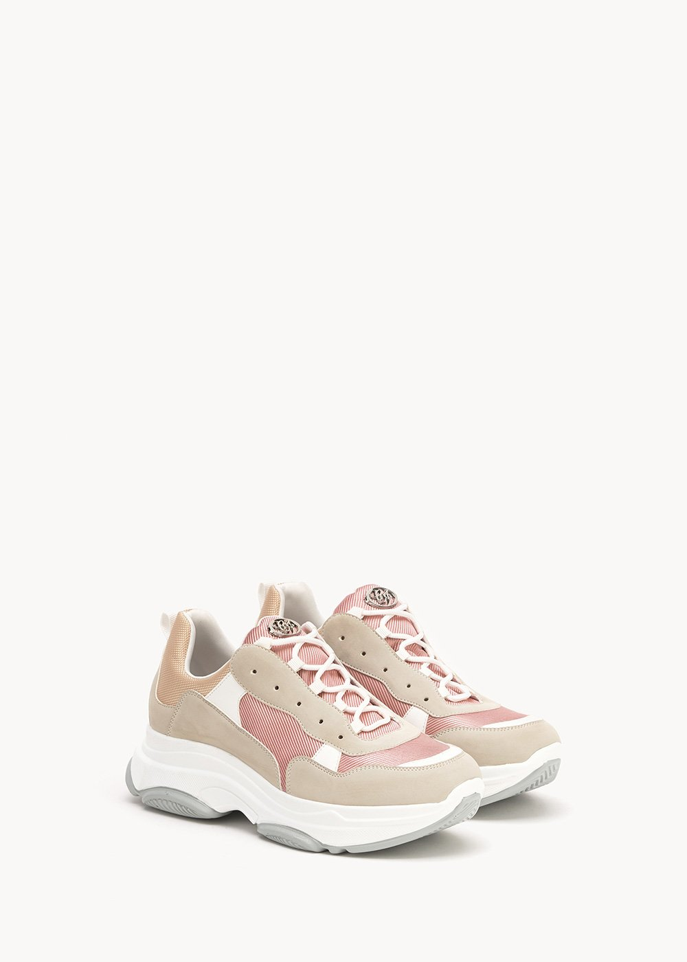 Skin sneakers in technical fabric - Lips / White - Woman