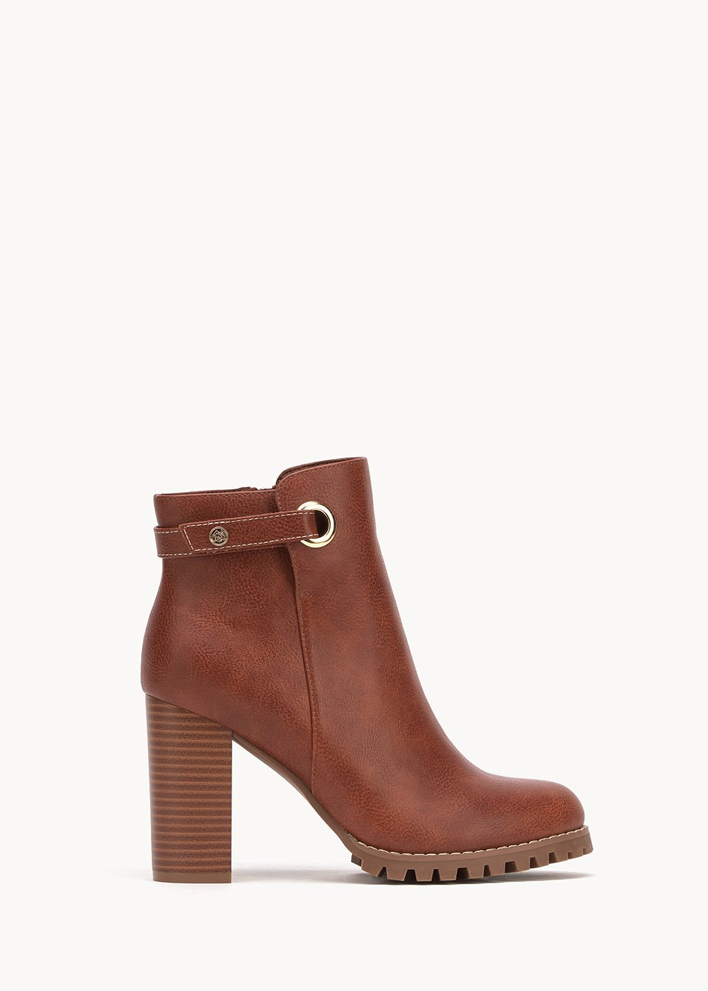 Sissy faux-leather ankle boots - Coccio - Woman