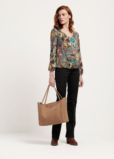 Shopping bag Body con manico catena