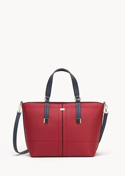 Shopping bag Bruni con macro infilature