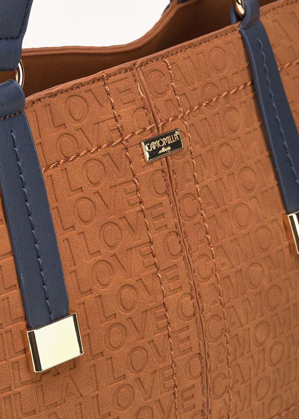 Shopping bag Berry logata - Land / Medium Blue - Donna