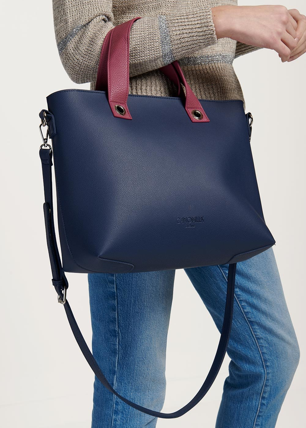 Shopping bag Bessie bicolor - Marina / Dalia - Donna