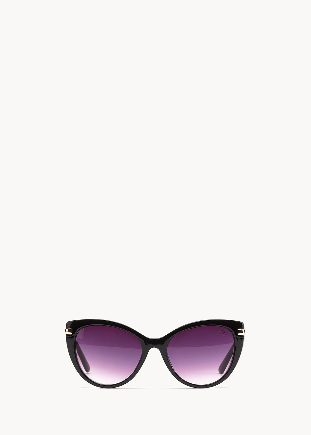 cat model sunglasses with matching frame - Black - Woman