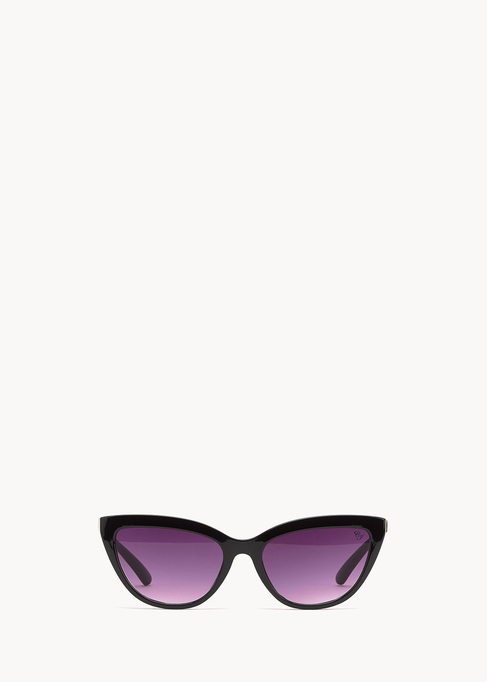 Sunglasses with animal-printed frame - Black - Woman