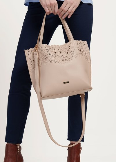 Bailey shopping bag with openwork