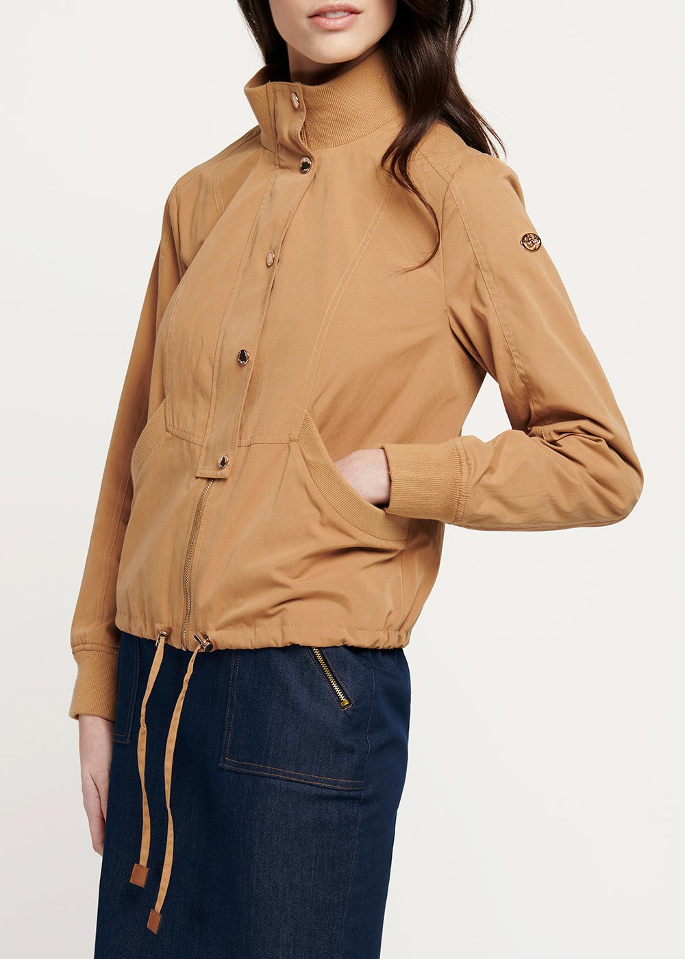 Garret jacket in tobacco-coloured cotton - Tobacco - Woman