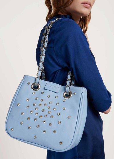 Micro Camo Girl shopping bag with small crystals