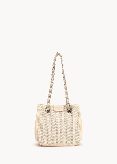 Micro Camo Girl raffia shopping bag