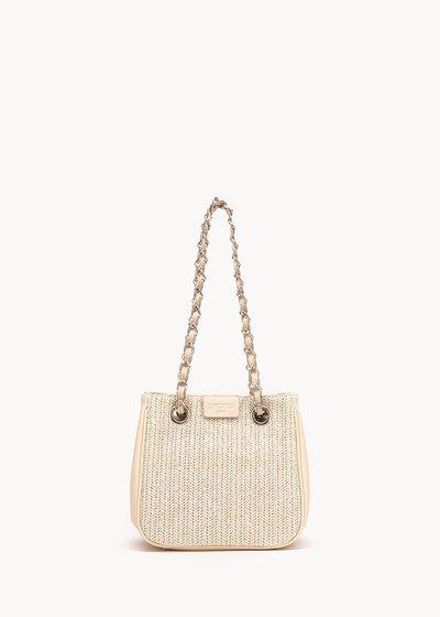Shopping bag Micro Camo Girl in raffia