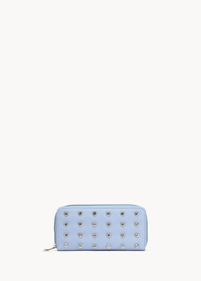 Pandy faux-leather wallet with small crystals