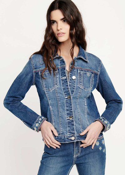 Gabriel denim jacket with contrasting stitching