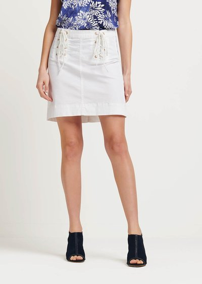 Georgie skirt with crisscross detail