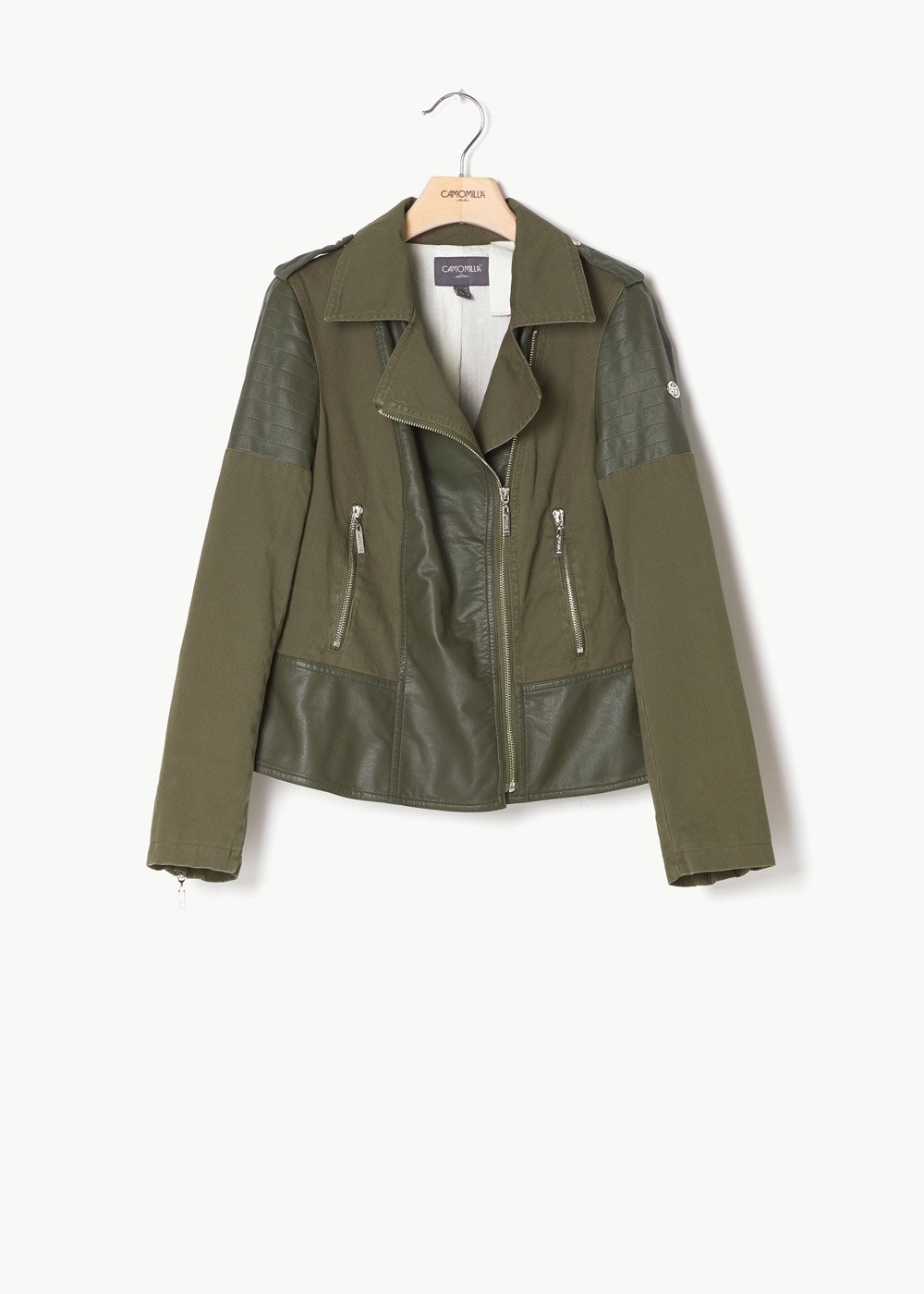 Giulius jacket with multi-inset - Green - Woman