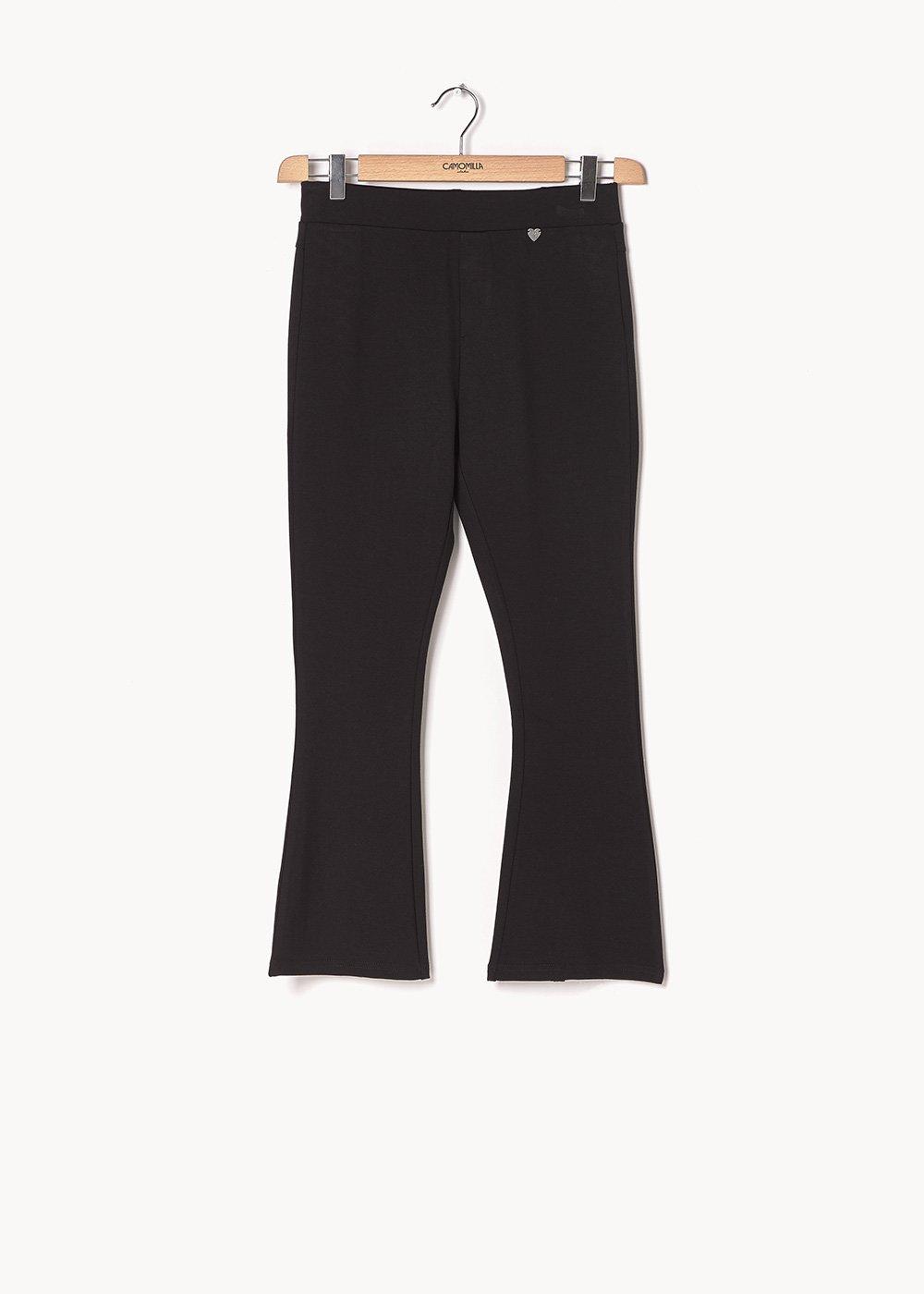Leon flared leggings - Black - Woman