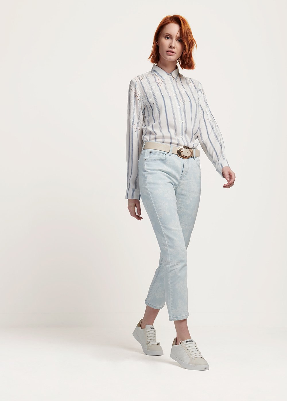 PEARL - Light Denim / White / Fantasia	 - Woman