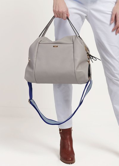 Baily shopping bag with shoulder strap detail