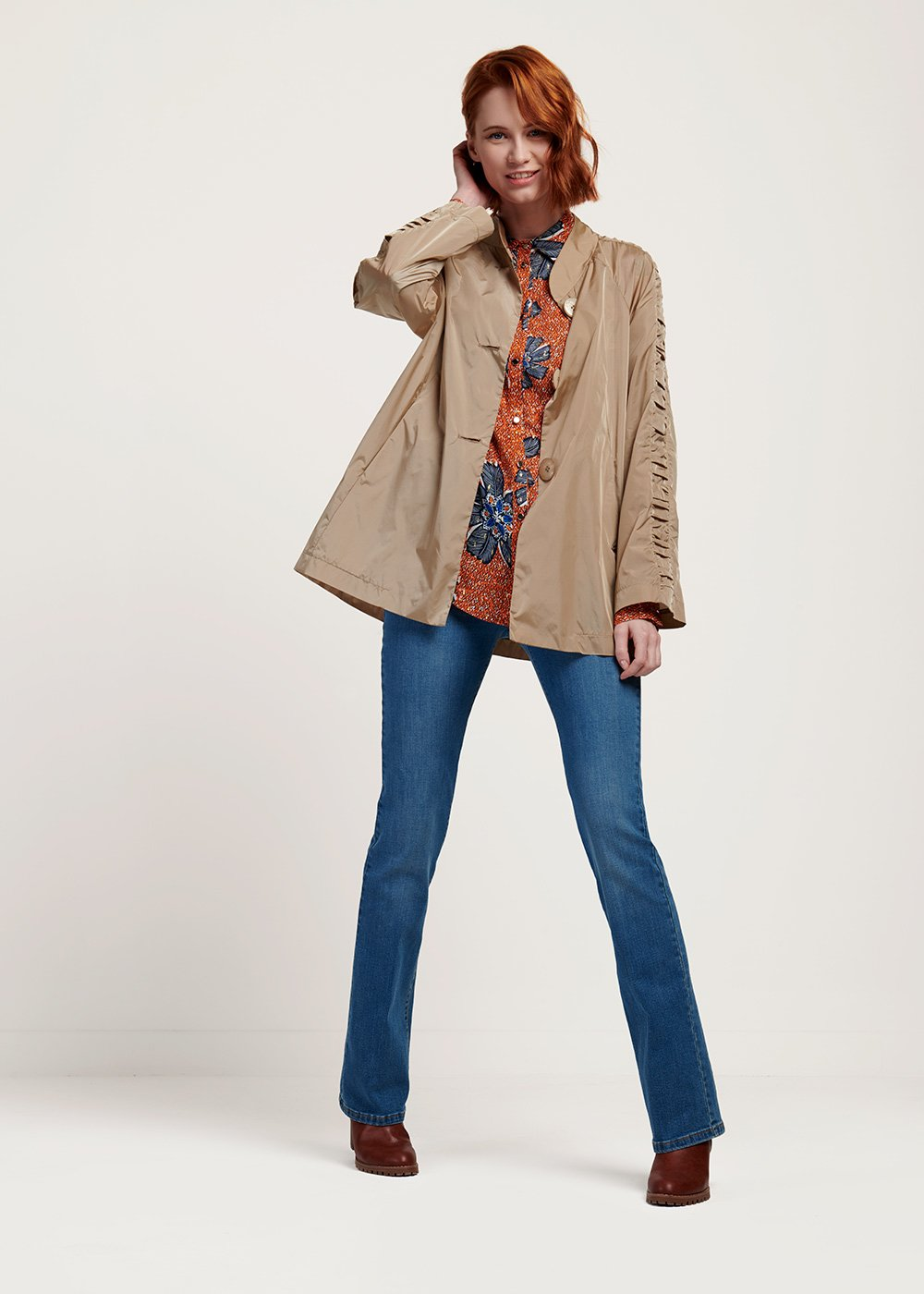 Trevor trench coat with raglan sleeves - Nomad - Woman