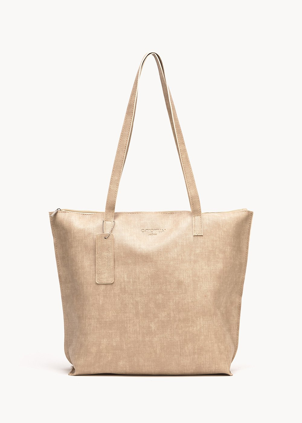 Shopping bag Beatrice in eco pelle - Zenzero - Donna