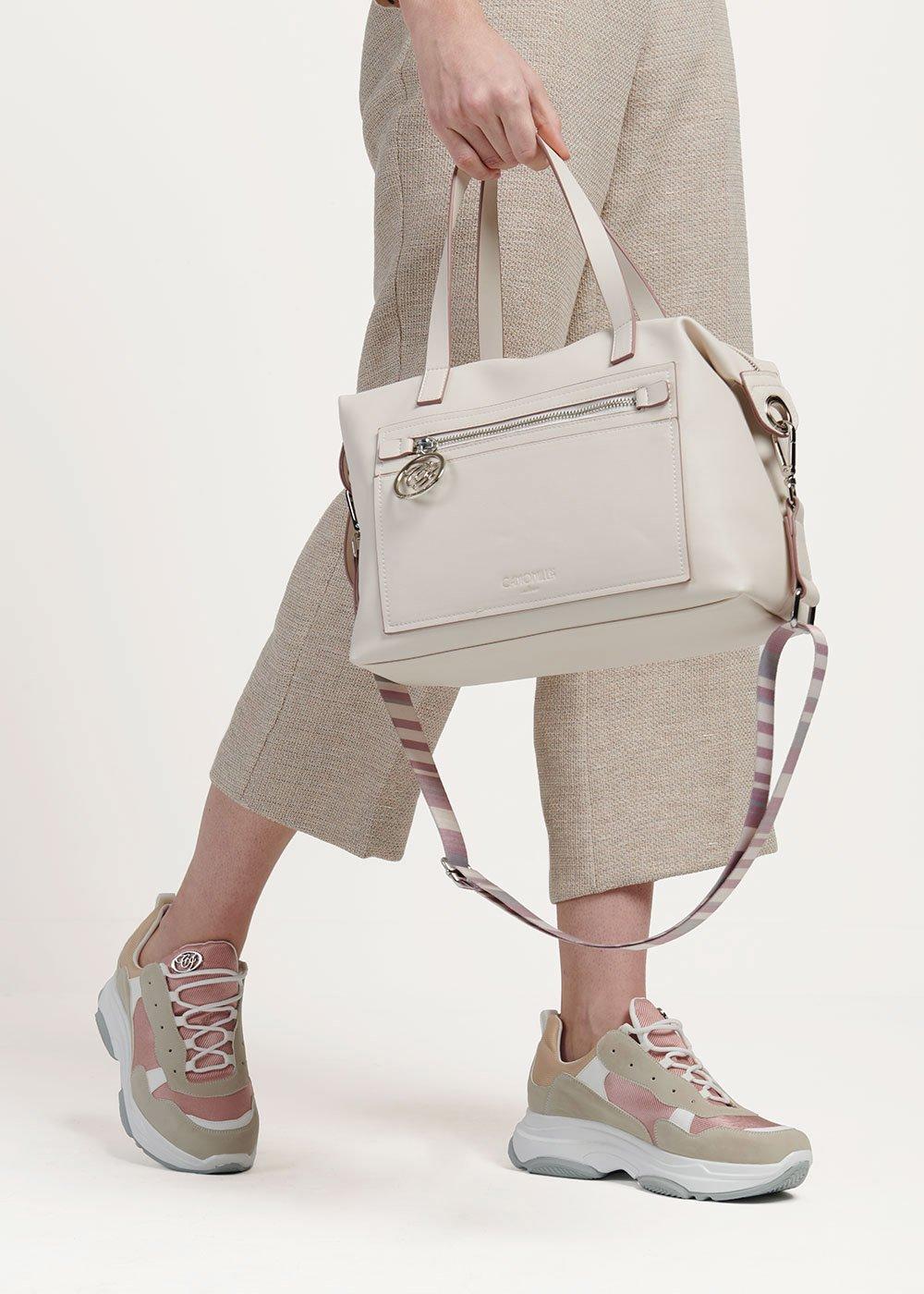 Shopping bag Bastien con piping a contrasto - Cocco - Donna