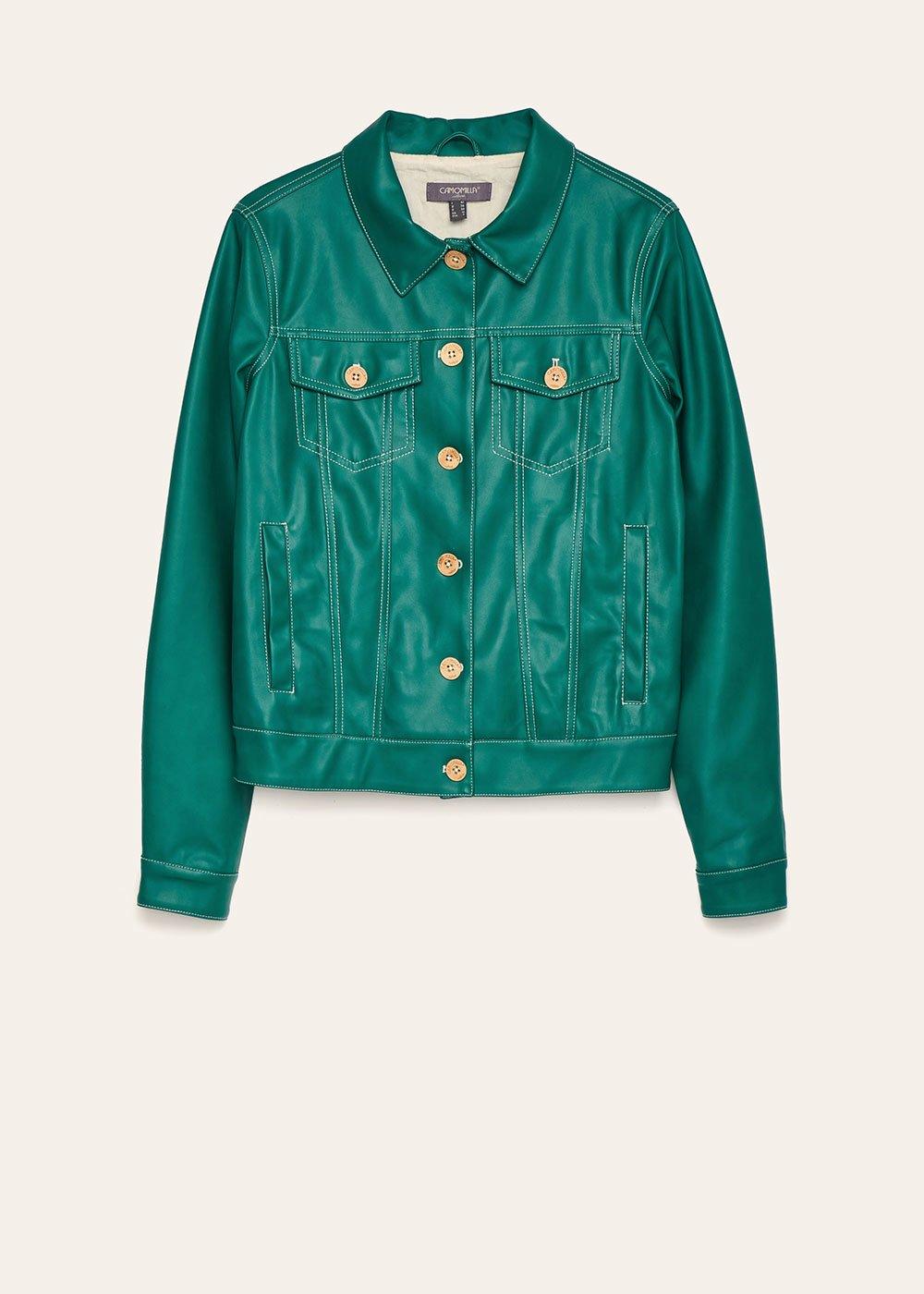 Gomis mint green faux-leather jacket - Menta - Woman