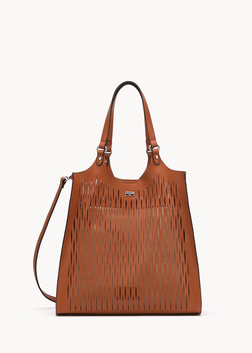 Shopping bag  Bailee traforata - Cacao - Donna