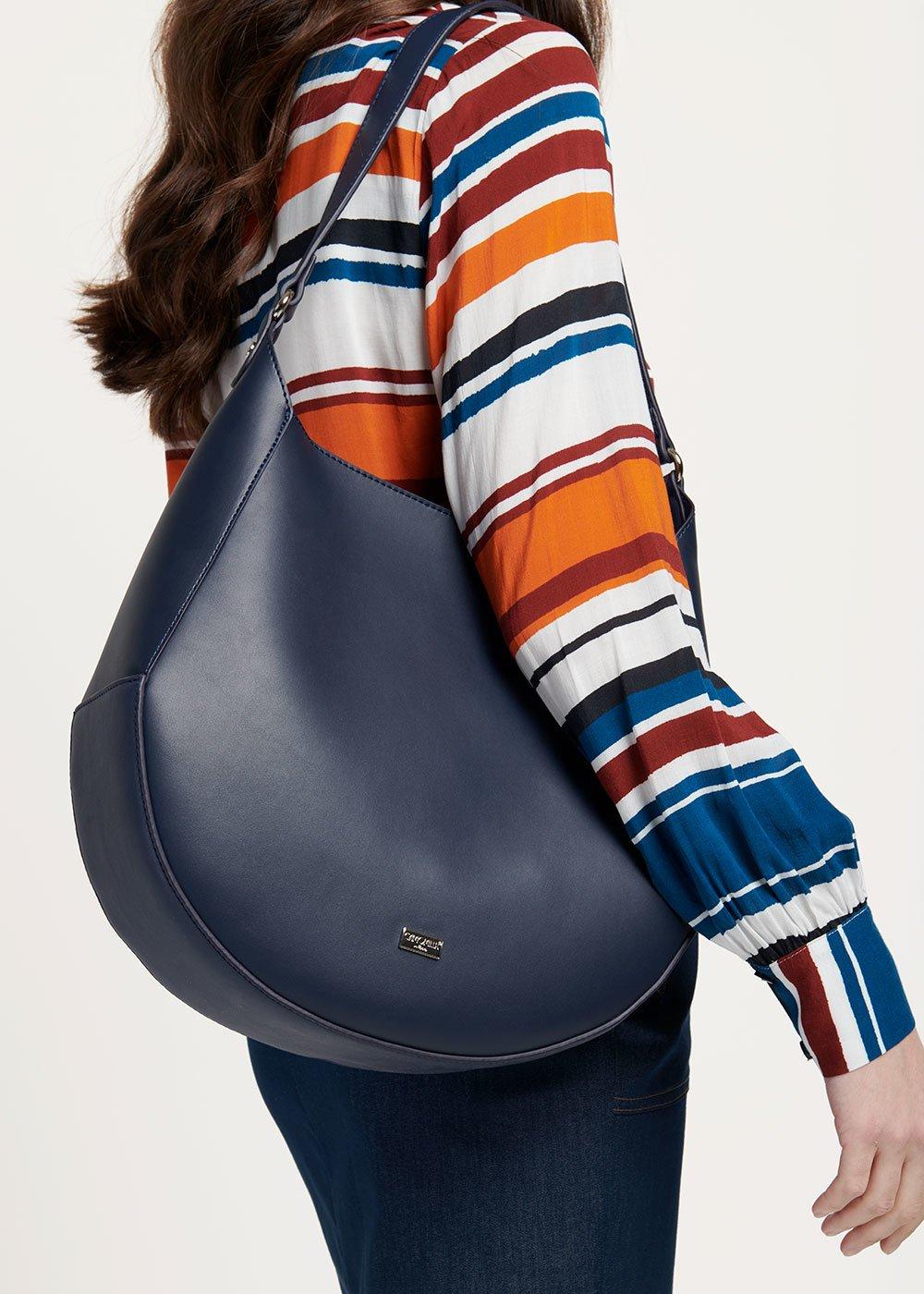 Hobo bag Bilia - Medium Blue - Donna