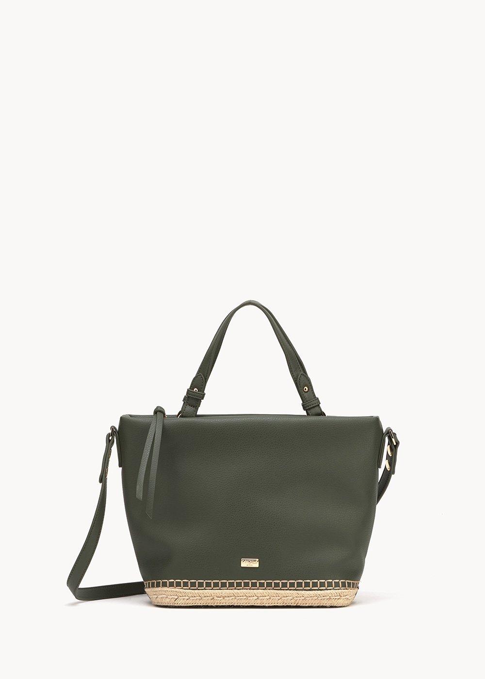 Beltran shopping bag with woven bottom